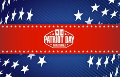 Patriot day star banner background Royalty Free Stock Image