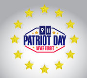 patriot day star seal sign illustration design Stock Photography
