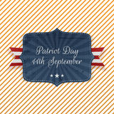 Patriot Day 11th September Emblem. With Ribbon royalty free illustration