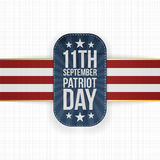 Patriot Day 11th September national Label Royalty Free Stock Images