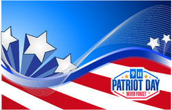 Patriot day us flag graphics background. Illustration design royalty free illustration