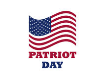 Patriot Day US flag on white background. Memorial day 9/11. Vector. Illustration Stock Images