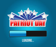 Patriot day us loading bar sign illustration. Design graphic Royalty Free Stock Image