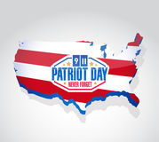 Patriot day us map illustration design. Graphic stock illustration