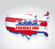 Patriot day us map sign illustration. Design graphic Royalty Free Stock Photo