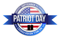 Patriot day. us seal and banner Royalty Free Stock Photography