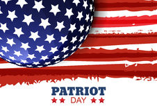 Patriot Day of USA or Independence Day. Vector abstract watercol. Or grunge horizontal background with place for text. Design concept for greeting card, banner Royalty Free Stock Photo