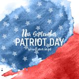Patriot Day USA poster background.September 11, We will never forget. Vector illustration. EPS10 stock illustration