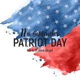Patriot Day USA poster background.September 11, We will never forget. Vector illustration. EPS10 royalty free illustration