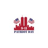 Patriot day usa, we will never forget vector logo Royalty Free Stock Photography