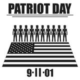 Patriot day Vector black icon on white background. Patriot day Vector black icon on white background Stock Image