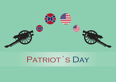 Patriot day vector illustration. Anniversary of the Battle of Lexington. National Day Massachusetts and Maine. Holiday background. Festive card Stock Photo