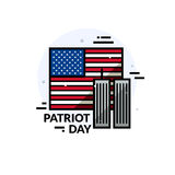 Patriot Day vector illustration. Patriot Day concept design in outline style, September 11 vector illustration Stock Illustration