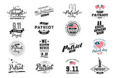 Patriot day vector typographic illustration Royalty Free Stock Photo