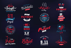 Patriot day vector typographic illustration Stock Image