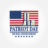 Patriot Day vintage design. Royalty Free Stock Photography