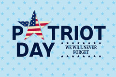 Patriot Day vintage design. Royalty Free Stock Photos