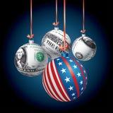 Patriot dollar balls Stock Photography