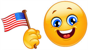 Patriot emoticon Royalty Free Stock Images