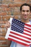 Patriot Man. Smiling Patriot Man stock photography