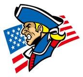 Patriot mascot. Vector of patriot head mascot stock illustration