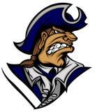 Patriot Mascot Vector Logo. Vector Image of Patriot Minuteman Mascot Logo royalty free illustration