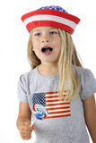 Patriot Pausing to Sing Royalty Free Stock Image