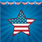 Patriot poster. Background Illustration Patriot USA in grunge style, vector illustration Stock Photos
