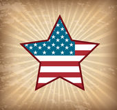 Patriot poster. Background Illustration Patriot USA in grunge style, vector illustration Stock Photography
