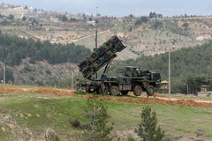 Patriot-Raketensystem stockfotografie