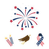 The patriot`s day set collection icons in cartoon style vector symbol stock illustration Royalty Free Stock Photos