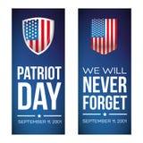 Patriot-Tag - 11. September 2001 lizenzfreie abbildung