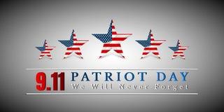 Patriot-Tag von USA mit Stern in der Staatsflagge färbt amerikanische Flagge Lizenzfreies Stockfoto