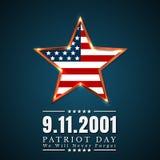 Patriot-Tag von USA mit Stern in der Staatsflagge färbt amerikanische Flagge Stockfotos