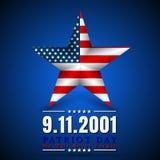Patriot-Tag von USA mit Stern in der Staatsflagge färbt amerikanische Flagge Lizenzfreie Stockfotos