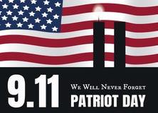 Patriot-Tagesamerikanische flagge streift Hintergrund lizenzfreie abbildung
