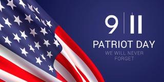 Patriot-Tagesfahnen-Designschablone vektor abbildung