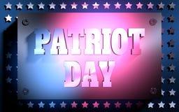Patriot-Tageshintergrund lizenzfreie abbildung