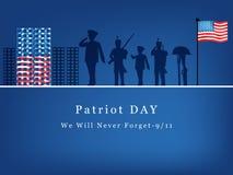 Patriot-Tageshintergrund Stockbilder