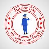 Patriot-Tageshintergrund Stockbild