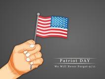 Patriot-Tageshintergrund Lizenzfreie Stockfotos