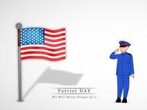Patriot-Tageshintergrund Stockfoto