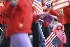 Patriot-Tagesparade Lizenzfreies Stockfoto