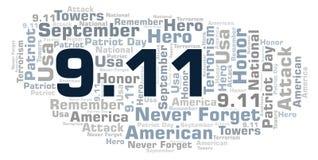 9 11 Patriot-Tageswortwolke stock abbildung