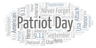 Patriot-Tageswortwolke stock abbildung