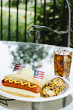 Patriot Themed Hotdogs Royalty Free Stock Photos
