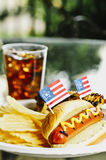 Patriot Themed Hotdogs Royalty Free Stock Image