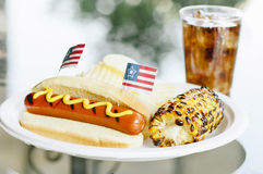 Patriot Themed Hotdogs Stock Photography