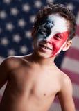 Patriota americano joven Imagenes de archivo