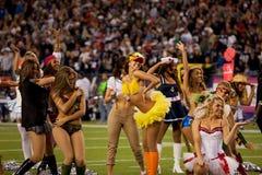 Patriota cheerleaders   Obrazy Royalty Free